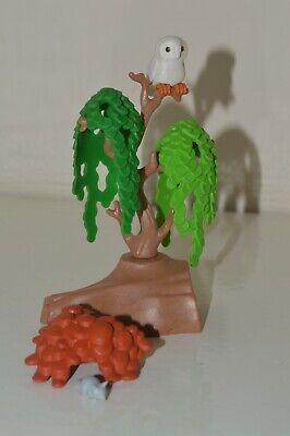 Playmobil Wildlife Safari Jungle Garden Tree Stump Plant Owl Mouse Scenery Brown