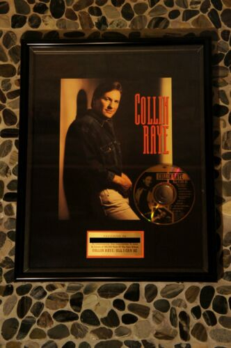 """COLLIN RAYE - GOLD RECORD """"ALL I CAN BE"""" SALES AWARD"""