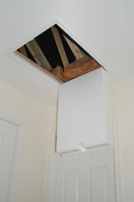 Hinged, insulated loft hatch