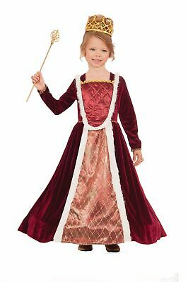 Queen Fairy Costume (Royal Medieval Princess Queen Girls Costume Red Dress Fairy Tale Storybook)