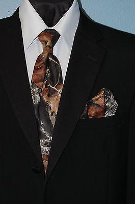 Tall Mens Tie (X LONG Tall Mens Mossy Oak Camo Dress Tie Camouflage SKINNY 2 3/4