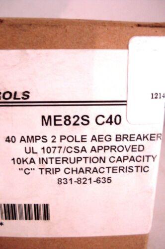 NEW EE CONTROLS ME82S C40 AEG BREAKER