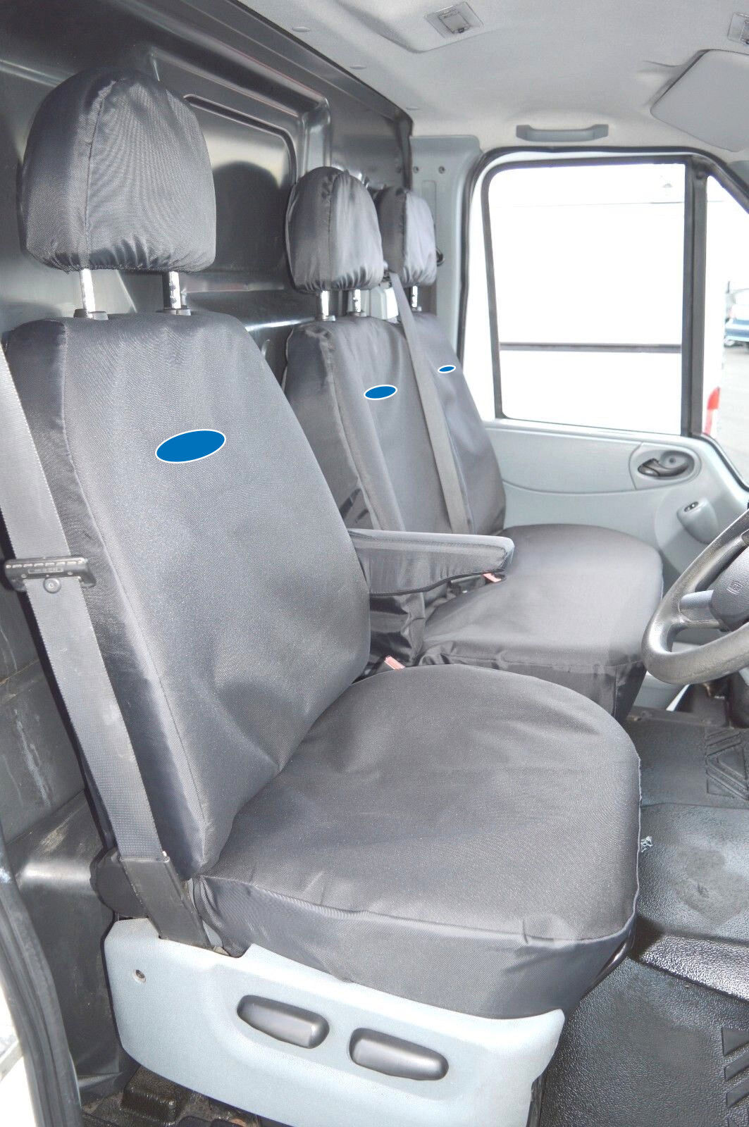 FORD TRANSIT CUSTOM DOUBLE CAB 2013 PRESENT ECO LEATHER TAILORED SEAT COVERS
