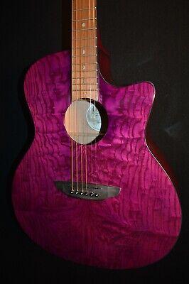 Luna Gypsy E QA Quilt Ash Trans Purple Acoustic ELECTRIC Guitar - Free Shipping!