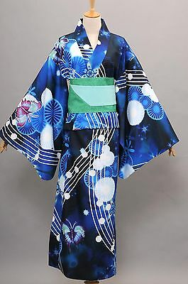 Vocaloid Hatsune Miku Project DIVA Yukata Kimono Miku Halloween Cosplay Costume