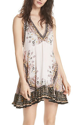 Free People | Steal The Sun Printed Halter Top Dress | Pink | L
