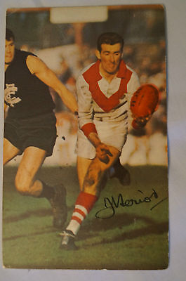 SOUTH MELBOURNE - John Heriot - Vintage 1966 Mobil Card - Printed Autograph.