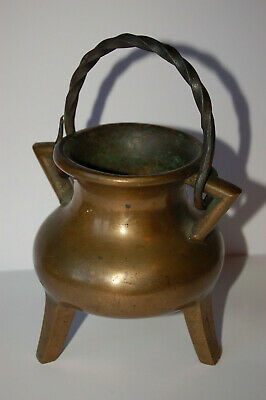 Bronze Tripod Vessel Grape Pot 18th Century Bronzekessel Grapen Kessel 18 Jhd