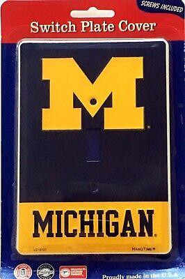 Michigan Wolverines Blue Aluminum Novelty Single Light Switch (Michigan Single)