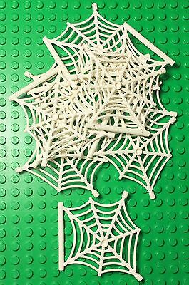 Lego X10 Pc. Bulk New White Spider Web Hanging Style / Halloween Parts Lot](Halloween Part 10)