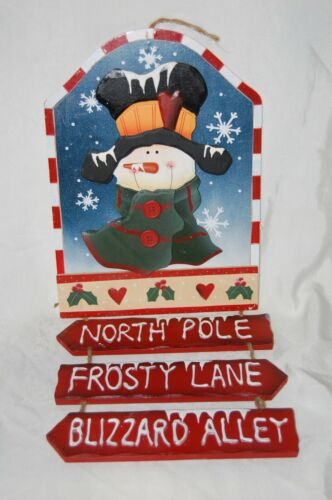 Christmas Wooden Snowman Hanging Sign