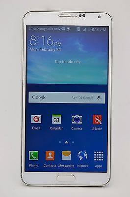 Samsung Galaxy Note 3 SM-N900A 32GB White UNLOCKED GSM AT&T TMOBILE METRO PCS (Samsung Galaxy 3 Tmobile Handy)