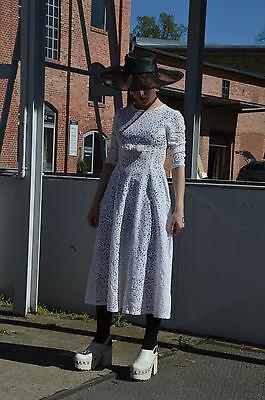 Damen Spitzenkleid Brautkleid Sommerkleid Kleid TRUE VINTAGE dress 70's Spitze