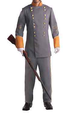 Civil War Confederate Officer Historical Mens Adult Plus - Plus Size Officer Kostüm