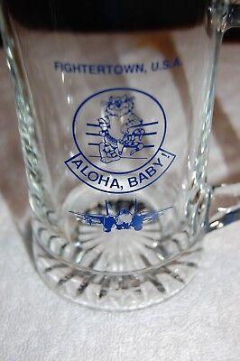 Used, RARE! TopGun Beer Mug/ VF-124 Disestablishment/ F-14 Tomcat/ NAS Miramar/ HUGE!! for sale  Rochester