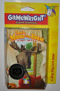 There's a Moose in the House Card Game, Ages 8 and Up. New, Factory Sealed
