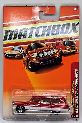 '63 Cadillac Ambulance > Red > Matchbox > 2010 > New