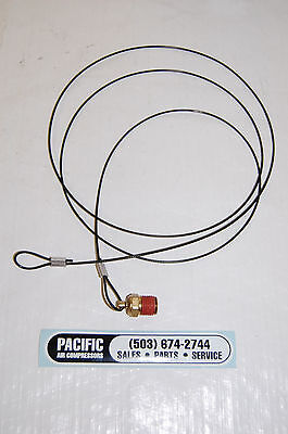 Air Tank Drain Valve W 5 Foot Cable 14 Mpt