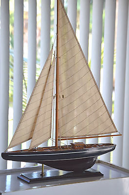 "Endeavour Yacht Wooden Model 24"" America's Cup J Class Boat Sailboat"
