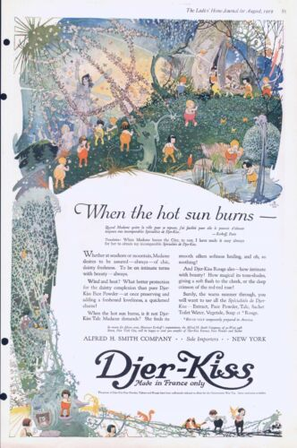 Djer Kiss  -  Cosmetic Products  -   Fairies  -  Arty  -  1919 Antique Ad