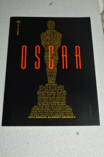 1997 Program Menu Nominees Luncheon For The Oscars Academy Awards Board Of Gover