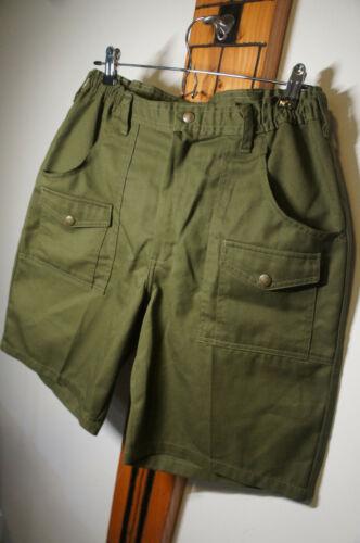 NEW Vintage Boy Scouts of America Green Uniform Shorts Vtg Retro Size 34   p38