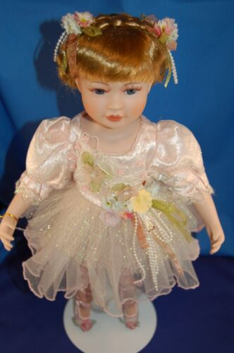 """Fine Bisque Porcelain Ballerina Doll """"Lyrical Beauty"""" 16"""" Without Stand"""