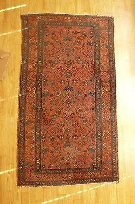 alter Teppich, Orientteppich?, vmtl. handgeknüpft, ca. 108 cm x ca. 190 cm