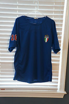 FIFA World Cup 2006 Italy 10 Blue Jersey, Sz L, GUC 2006 Italy World Cup