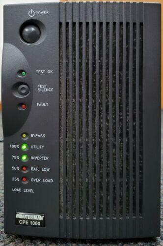 Used Minuteman CPE1000 Uninterrupted Power Supply Surge UPS 1000VA/700W 90000654