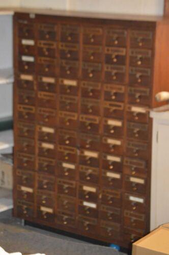 Vintage Multi 72 Drawer Cabinet Heavy Brass Pulls