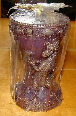 1672 - DRAGON Chalice Pillar Candle (Fantasy Collection by Westland)