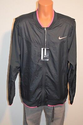 New $120 Nike Golf Club Jacket Hyperadapt Tour Performance Jacket XL Black/Pink Performance Tour Jacket