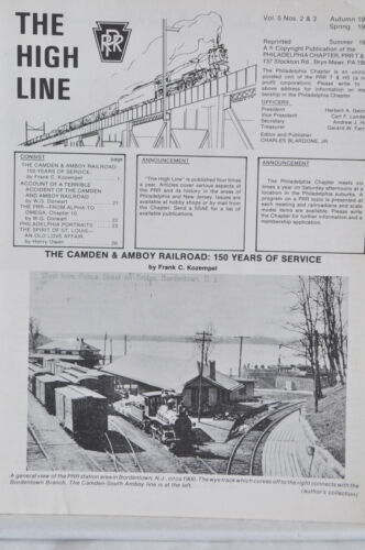 The High Line Camden & Amboy Railroad PRR Vol 5 No.2 & 3 Autumn 1984-Spring 1985