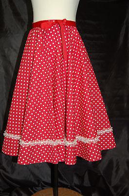 Children's Dress Up Retro Circle 50s Skirt, Red/white, NEW costume, 3 - Dress Up Retro