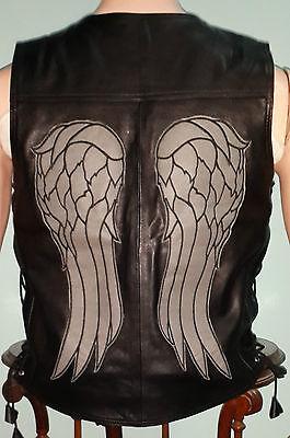 ernor - Daryl Dixon Engel Flügel Real Leather Weste Jacke (Daryl Weste)
