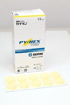 SEIRIN New PYONEX 0,15 x 0,6 mm Dauernadeln für Ohr- und Körperakupunktur gelb