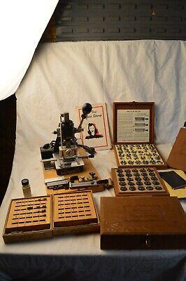 Vintage Kingsley Hot Foil Stamping Machine Waccessories Type Set Holders Works