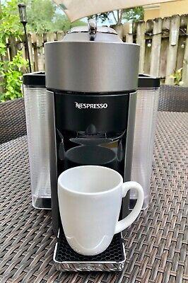 DeLonghi Nespresso Vertuo Pods Capsule Coffee and Espresso Machine Swarthy ENV135S