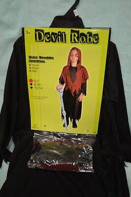 U PICK Halloween CHILD DEVIL ROBE Costume SZ 5-10 Girl BOY Hood ROBE Belt New](Devil Costume For Boy Halloween)