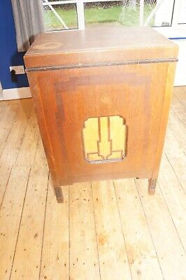 Art Deco G.Marconi record player base/cabinet