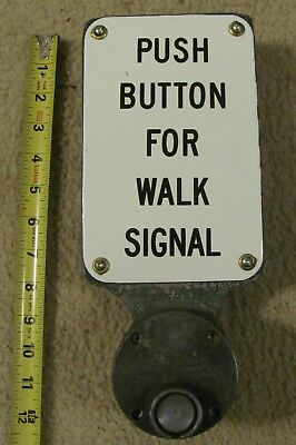 Pedestrian crossing sign push button traffic signal light Style 2