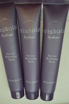 3X Trissola Hydrate Intense Hydrating Mask 0.7oz / 20ml Sealed Ipsy! Trissola