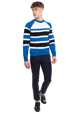 RRP €195 AMI ALEXANDRE MATTIUSSI Jumper Size M Thin Striped Made in Portugal