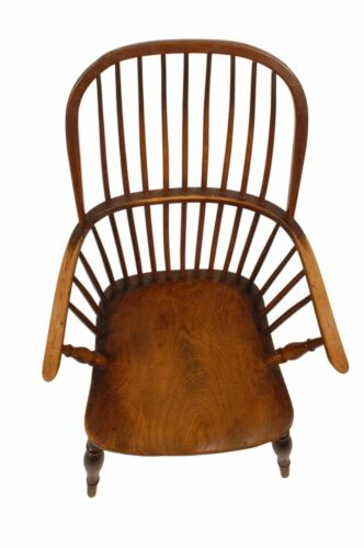 1795 Signed Federal Furniture Antique Chair Bow Back Double Windsor Armchair
