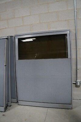 48-14w X 64h Office Partition Panel With Partial Window Steelcase
