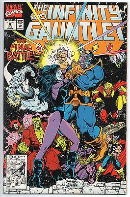 Infinity Gauntlet #6 First Printing! Thanos 1st Print Avengers Spider-Man 1991
