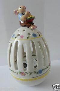 Villeroy & Boch Ostern Spring Decoration Teelichthalter Ei Hase m. Kreisel