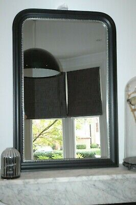 House Doctor Beaded Wall Mirror Black With Silver Bead