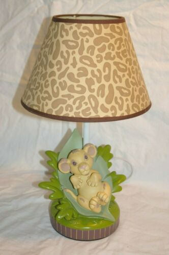 Disney Lion King Simba Lamp Base & Original Cheetah Shade Infant Nursery Rare